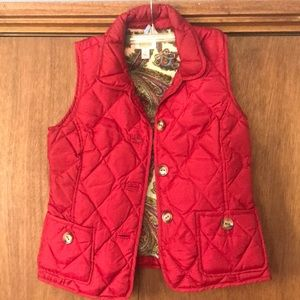 Red puffy vest Talbots size small.